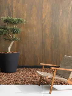 Outdoor Chairs, Outdoor Furniture, Outdoor Decor, Inspiration, Home Decor, Contemporary Architecture, Rusted Metal, Corten Steel, Interiors