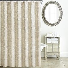 Waterford Britt Shower Curtain in Gold
