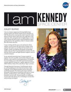 I am Kennedy Space Center: Caley Burke