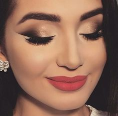 Pin by Paulina on Usta in 2019 Hd Makeup, Prom Makeup, Skin Makeup, Bridal Makeup, Beauty Makeup, Beauty Tips, Subtle Makeup, Makeup For Brown Eyes, Love Makeup