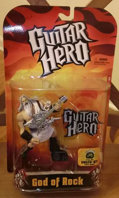 Up for auction at my eBay store Guitar Hero God of Rock Toy Action Figure McFarlane Toys 2008 MOC New Sealed
