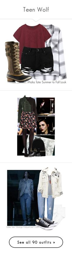 """""""Teen Wolf"""" by tynestar ❤ liked on Polyvore featuring Rails, Zara, SOREL, Boohoo, Banana Republic, SPANX, Topshop, Max&Co., MICHAEL Michael Kors and Ted Baker"""