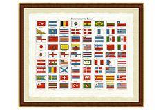 My daughter would love this! International Flag Print on OneKingsLane.com