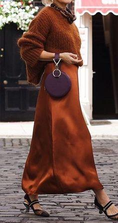 Burnt Orange Color, Virtual Closet, Dress Skirt, Cinnamon Spice, Colours, Purple, Classic, Skirts, Caramel