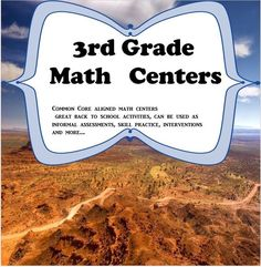 This 3rd grade math center intervention is designed to help students learn new concepts, practice current concepts, as well as, re-teach skills acquired in 2nd grade. Preparing students for the rigors of the 3rd grade class room.  The Centers consist of m