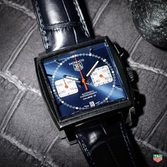 A Brilliant Blue Square Dial Is Not The Only Iconic Characteristic On The TAG Heuer Monaco Calibre 12 - But It Is Surely The Most Eye - Catching! - #DontCrackUnderPressure