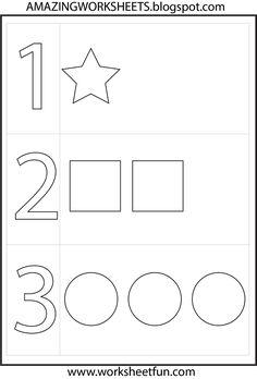 preschool number one worksheet | Number 1 Preschool Worksheets