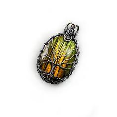 Labradorite Tree of Life pendant Handmade от DreamingTreesJewelry, $154.00