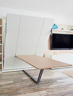 Mini casa de piscina de 19m2: minicasa de espacio reducido y grandes ideas, mobiliario funcional y adaptable, ambiente moderno y neutro.