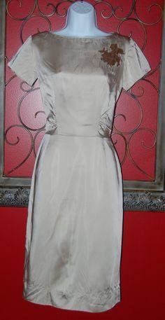 Rags 2 Vintage - Vintage Champagne Cocktail Wiggle Dress, $45.00 (http://www.rags2vintage.com/vintage-champagne-cocktail-wiggle-dress/)