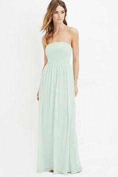 Contemporary Strapless Chiffon Maxi Dress