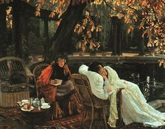 James Tissot-It does not surprise me that he shares an October birthday with me. A very favorite artist.