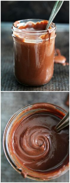 3-Ingredient Peanut Butter Hot Fudge Recipe on http://twopeasandtheirpod.com You only need three ingredients to make this peanut butter hot fudge sauce. It is great drizzled on ice cream, cake, brownies, or fruit.