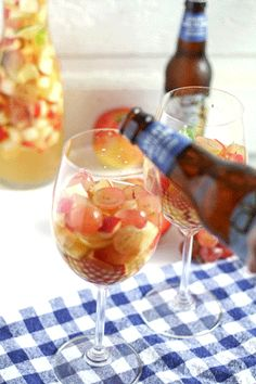 White Wine Apple Cider Sangria | www.honeyandbirch.com #cocktail #drink