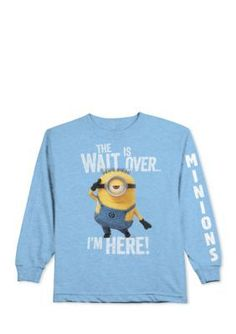 Despicable Me   Long Sleeve The Wait Is Over Minions Tee Boys 4-7