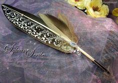 Sylvan Scribe Quill Pen by ChaeyAhne on deviantART