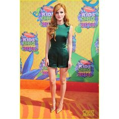 Bella Thorne Kids' Choice Awards 2014 Orange Carpet ❤ liked on Polyvore featuring dresses