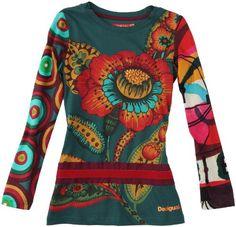 In Offerta! #Offerte Abbigliamento#Buoni Regalo   #Outlet Desigual - Maglietta, bambina, Verde (Grün (verde agua oscuro 4019)), 104 cm disponibile su Kellie Shop. Scarpe, borse, accessori, intimo, gioielli e molto altro.. scopri migliaia di articoli firmati con prezzi da 15,00 a 299,00 euro! #kellieshop #borse #scarpe #saldi #abbigliamento #donna #regali