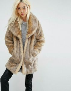 Buy Unreal Fur Elixir Faux Fur Coat at ASOS. With free delivery and return options (Ts&Cs apply), online shopping has never been so easy. Get the latest trends with ASOS now. Faux Fur Lined Coat, Brown Faux Fur Coat, Cute Winter Coats, Fake Fur, Mannequin, Clothing Items, Get Dressed, Autumn Winter Fashion, Fall Winter