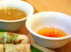 Nuoc Cham (Vietnamese Dipping Sauce) - This Nuoc Cham is a dipping sauce traditionally used for Fried Spring Rolls.  Get this recipe by clicking on the link below:  http://ow.ly/dZcL301pgmf
