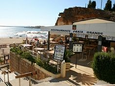 Nice restaurant to chill out at Praia Grande beach, Ferragudo.