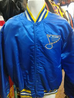 Vintage 80s ST. LOUIS BLUES NHL Starter Nylon Jacket XL
