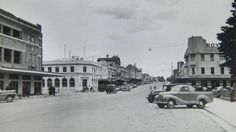 Summer Street, Orange. View looking west from Canobolas and Royal Hotels, including Rose Marie Cafe. Date unknown. Photo:  The Collections of Central West Libraries.