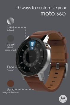 d315ffeab6f Customize your Moto 360 to your exact specifications—with multiple case  sizes