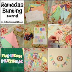 Ramadan Bunting Decorations tutorial Muslim Islamic Craft Karimas Crafts