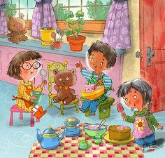 John Nez Illustration - Tea Party