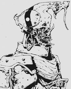 ゾーン by Rome Adzan Ramli Character Concept, Character Art, Character Design, Body Drawing Tutorial, Cyberpunk Character, Tecno, Robot Concept Art, Comic Panels, Black And White Drawing