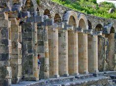 Upper vomitorio of the Roman theatre of Aspendos, Turkey
