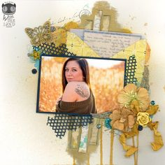Angel | A remembrance scrapbook layout by Alice Scraps Wonderland