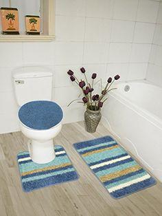 Peak Mall 2Pcs Bathroom Rug Mat Set Nonslip Soft & Absorbent And Magnificent 3 Piece Bathroom Rug Sets 2018