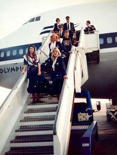 Olympic Airways Staff Greece