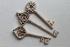 Inspiration... Quilled Keys