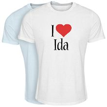 Custom T-shirt > Ida i-love
