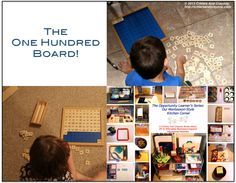 The Hundred Board In Our Montessori Kitchen Corner.  Part Of The Critters And Crayons Opportunity Learners Series.
