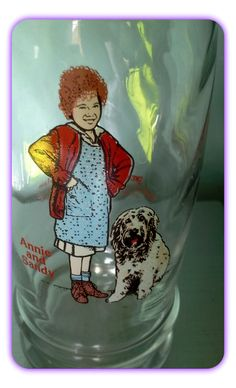 Vintage Little Orphan Annie and Sandy 1982 Swensen's by SparkleSet