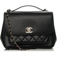 CHANEL Caviar Quilted Large Business Affinity Flap Black ❤ liked on Polyvore featuring bags, handbags, quilted leather handbags, handbags totes, chanel tote, genuine leather handbags and leather tote purse