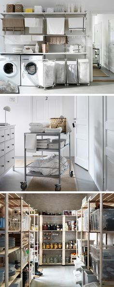 A neat and efficient set-up can make all those behind-the-scenes chores easier to manage. So that B&B owners can spend more time talking with guests and less time cursing the laundry. Down in the storeroom, the open and adaptable shelving (customised with extra boxes and baskets) means you can quickly grab what you need before anyone says 'We've run out of jam.'