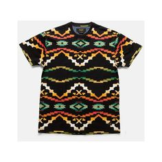 10Deep | Tops | Sangoma Tee - Black Native ($44.00) ❤ liked on Polyvore featuring tops, t-shirts, shirts, shirt tops, tee-shirt and t shirt