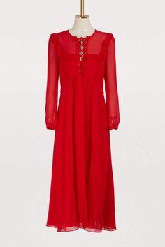 88172b725178 Buy Miu Miu Silk midi dress online on 24 Sèvres.