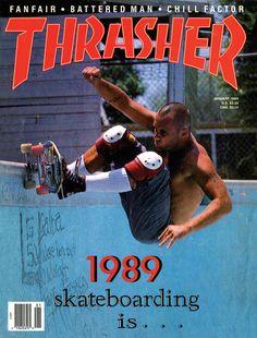 Jay Adams on Thrasher Skateboard Magazine, January 1989