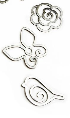 The Butterfly, the Bird and the Rose Metal Clips