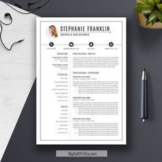 7 Best Cv Images On Pinterest Resume Templates Creative Resume