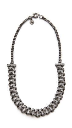 Marc - Lizard Texture Metal Necklace. I've seen a knock off diy for this. When I find it again, I can send it to the blogger