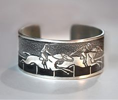 """Get in the spirit for the with the Horse Lady """"Race"""" Cuff Bracelet! Horse Jewelry, Jewelry Art, Women Jewelry, Jewellery, Horse Galloping, Horse Racing, Race Horses, Hand Cast, It Cast"""