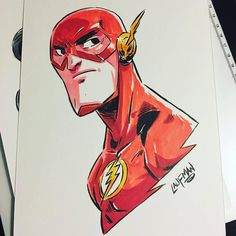 Marvel Drawing The Art of Derek Laufman — Flash Headsketch Commission from my Kickstarter. Marvel Drawings, Doodle Drawings, Cartoon Drawings, Cartoon Art, Chibi Marvel, Marvel Art, Comic Books Art, Comic Art, Character Drawing