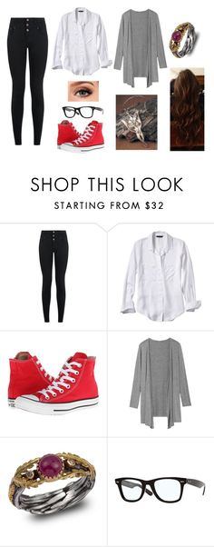 """""""This is Only the Beginning"""" by amanda-gail on Polyvore featuring New Look, Banana Republic, Converse, Emma Chapman and Ray-Ban"""